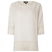 Buy Phase Eight Lucie Lace Trimmed Blouse, White Online at johnlewis.com