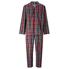 Buy John Lewis Ashford Poplin Check Pyjamas, Red Online at johnlewis.com