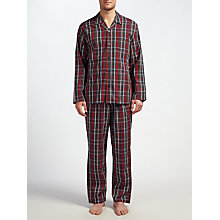 Buy John Lewis Poplin Check Pyjamas, Red Online at johnlewis.com