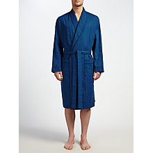 Buy John Lewis Canterbury Satin Cotton Robe, Blue Online at johnlewis.com
