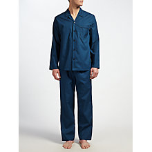 Buy John Lewis Tile Print Pyjamas, Navy/Blue Online at johnlewis.com