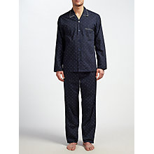 Buy John Lewis Diamond Pin Dot Pyjamas, Navy Online at johnlewis.com