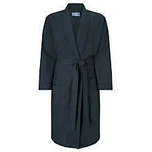 Buy John Lewis Tile Print Cotton Robe, Green/Navy Online at johnlewis.com