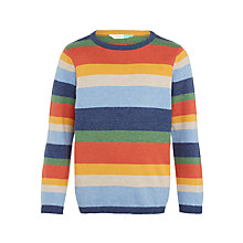 Buy John Lewis Boys' Cashmere Blend Stripe Jumper, Multi Online at johnlewis.com