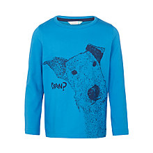 Buy John Lewis Boys' Dog Print Graphic T-Shirt, Blue Online at johnlewis.com