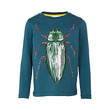 Buy John Lewis Boys' Long Sleeve Foil Bug Print T-Shirt, Teal Online at johnlewis.com