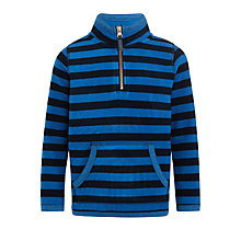 Buy John Lewis Boys' Stripe Overhead Polar Fleece, Navy/Blue Online at johnlewis.com