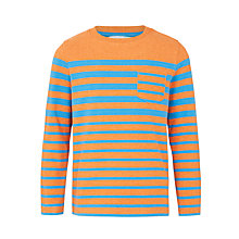 Buy John Lewis Boys' Graduated Stripe Top, Orange/Blue Online at johnlewis.com