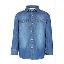 Buy John Lewis Boys' Western Denim Shirt, Blue Online at johnlewis.com