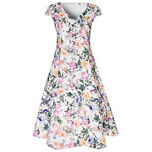 Buy True Decadence Floral Prom Dress, Cream/Violet Online at johnlewis.com