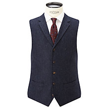 Buy JOHN LEWIS & Co. Bennett Donegal Wool Tailored Waistcoat, Blue Online at johnlewis.com