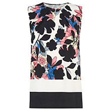 Buy Warehouse Shadow Floral Shell Top, Multi Online at johnlewis.com