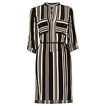 Buy Oasis Stripe Shirt Dress, Black/Multi Online at johnlewis.com