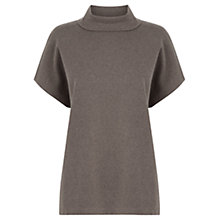 Buy Warehouse Square Funnel Neck Top, Mink Online at johnlewis.com
