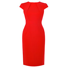 Buy Karen Millen High Neck Pencil Dress, Red Online at johnlewis.com