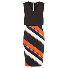 Buy Oasis Striped 2 In 1 Pencil Dress, Multi/Black Online at johnlewis.com