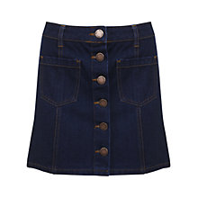 Buy Miss Selfridge Petite Denim A Line Skirt, Indigo Online at johnlewis.com