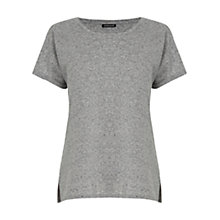 Buy Warehouse Neppy Pocket T-Shirt, Light Grey Online at johnlewis.com