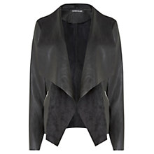 Buy Warehouse Zip Detail Waterfall Jacket, Black Online at johnlewis.com