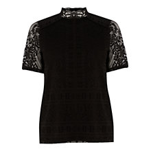 Buy Warehouse Victoriana Lace Top Online at johnlewis.com