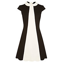 Buy Karen Millen Colourblock 60s Dress, Black/Ivory Online at johnlewis.com