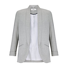Buy Miss Selfridge Petite Jersey Blazer, Grey Marl Online at johnlewis.com