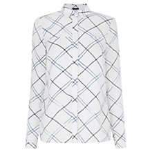 Buy Warehouse Check Utility Shirt, White/Multi Online at johnlewis.com