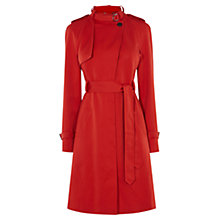 Buy Karen Millen Trench Coat, Red Online at johnlewis.com