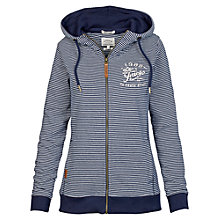 Buy Fat Face Heritage Feeder Stripe Hoodie, Navy Online at johnlewis.com