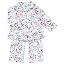 Buy John Lewis Baby Vintage Bird Woven Pyjamas, Pink Online at johnlewis.com