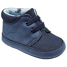 Buy John Lewis Baby Dino Booties, Navy Online at johnlewis.com