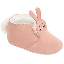 Buy John Lewis Baby Rabbit Booties, Pink Online at johnlewis.com