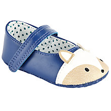 Buy John Lewis Baby Fox Mary Jane Booties, Blue/Cream Online at johnlewis.com