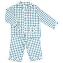 Buy John Lewis Baby Checked Bear Pyjamas, Blue Online at johnlewis.com