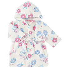 Buy John Lewis Baby Pretty Rose Print Robe, Pink Online at johnlewis.com