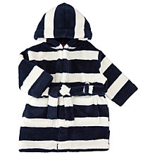 Buy John Lewis Baby Stripe Robe, Navy/White Online at johnlewis.com