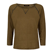 Buy Jaeger Linen Jersey Top Online at johnlewis.com