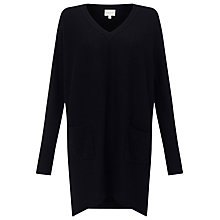 Buy East V Neck Slouchy Jumper, Black Online at johnlewis.com