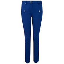 Buy Pure Collection Otley Cotton Stretch Zip Pocket Trousers, Cobalt Online at johnlewis.com