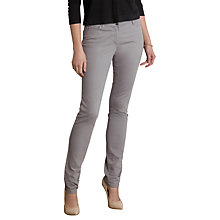 Buy Pure Collection Cecil Slim Leg Jeans, Grey Twill Online at johnlewis.com