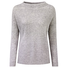 Buy Pure Collection Gladstone Gassato Cashmere Bardot Sweater, Heather Dove Online at johnlewis.com