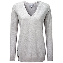 Buy Pure Collection Nesfield Cashmere Button Side Sweater, Heather Dove Online at johnlewis.com
