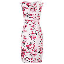 Buy Precis Petite Floral Print Shift Dress, Pink/Multi Online at johnlewis.com