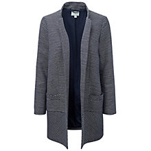 Buy Pure Collection Delamere Summer Jacquard Coat, Navy/Ivory Online at johnlewis.com