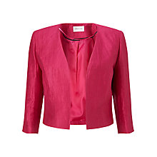 Buy Precis Petite Crinkle Linen Blend Jacket, Pink Online at johnlewis.com