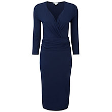 Buy Pure Collection Harewood Jersey Dress, Navy Online at johnlewis.com