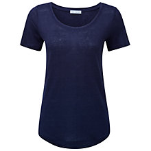 Buy Pure Collection Lindrick Linen T-Shirt, Navy Online at johnlewis.com