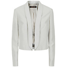 Buy Jaeger Silk Cotton Jacket, Silver Grey Online at johnlewis.com