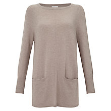 Buy East Pocket Oversized Jumper, Pebble Online at johnlewis.com