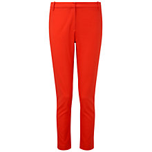 Buy Pure Collection Apley Capri Trousers, Tomato Red Online at johnlewis.com